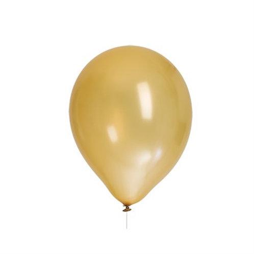 "BALLOONS 12"" GOLD METALLIC 8-PK. 79939 JOKER"
