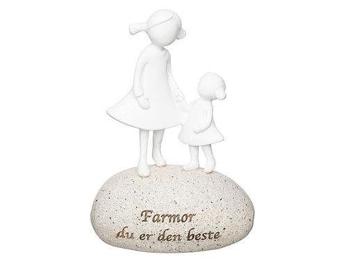 Figur på stein Farmor h:10,5cm Farmor du er den beste