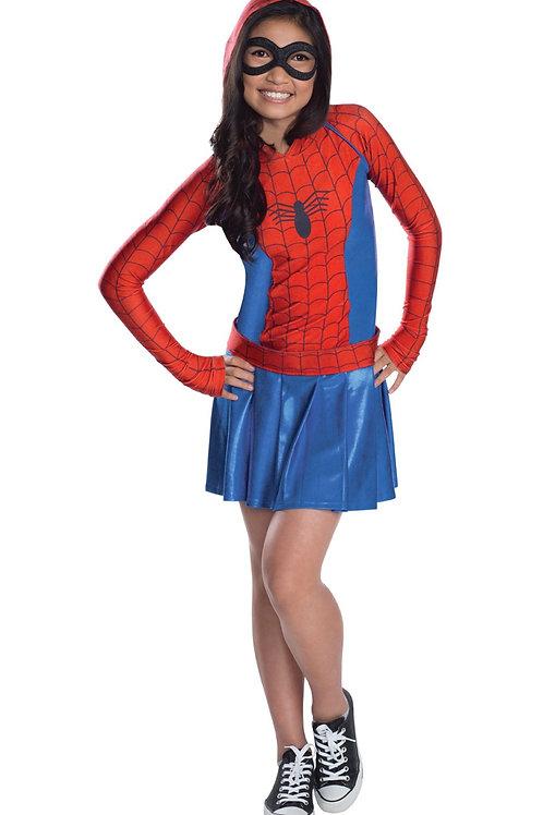 SPIDER-GIRL HOODIE DRESS – CHILDRENS. 610232 RUBIES
