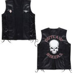 "Leather look ""OUTLAW BIKERS VEST"" W 49007"