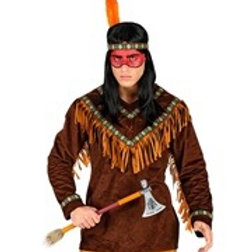 """NATIVE INDIAN"" (coat, headband with feather)"
