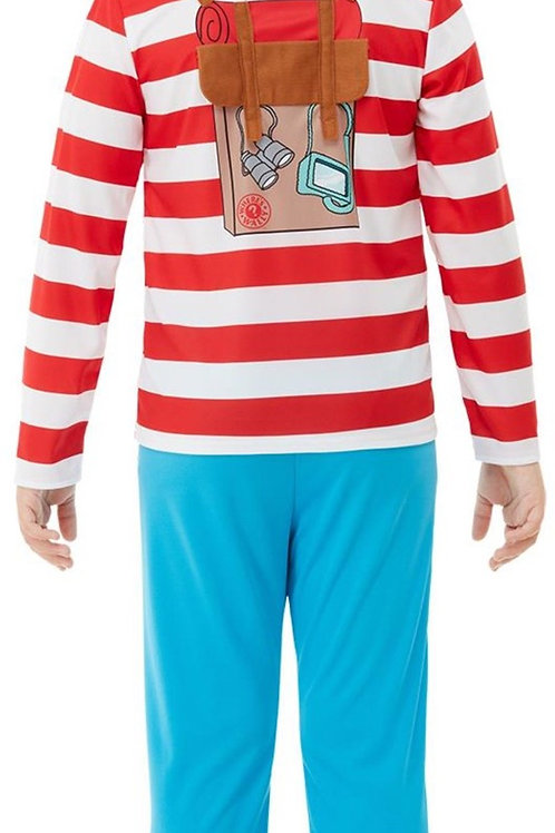 Where's Wally? Deluxe Costume. 50279 Smiffys