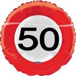 17in/43cm Traffic Sign 50 F 28550