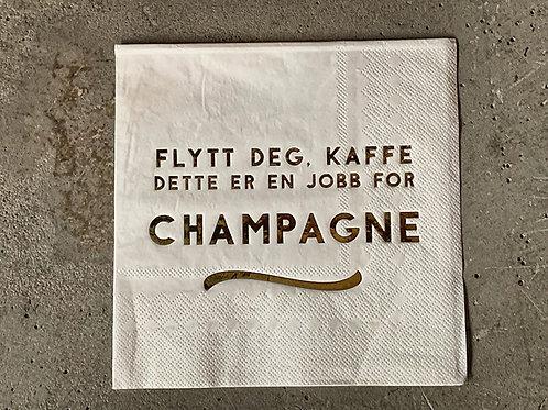 Serviett hvit m gull 33x33 Champagne jobb  Produktnr:L66045