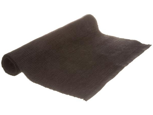 Dekkebrikke chenille bomull sort 33x48cm Varenr:109941