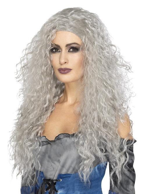 Banshee Wig, Grey, Long & Messy.  45052 Smiffys