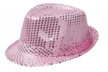 Glitterhatt, rosa