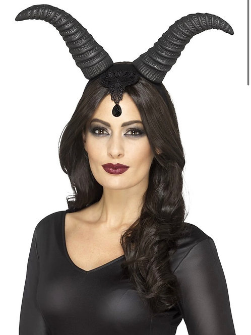 Demonic Queen Horns, on Headband. 45086 Smiffys