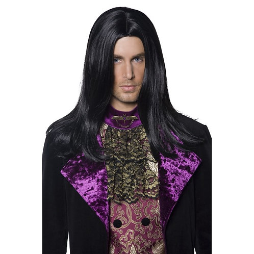 Gothic Count Wig, Black SKU: 36315 S