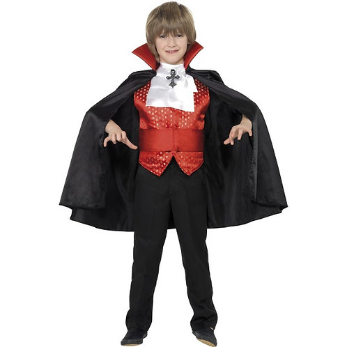 Dracula Boy Costume, Red and Black SKU: 35830