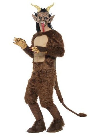 Beast / Krampus Demon Costume, Long Pile Fur S 47072