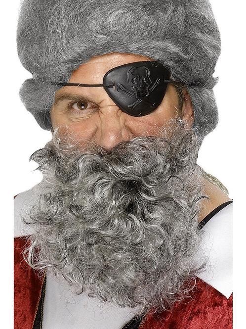 Deluxe Pirate Beard, Light Grey. 1503 Smiffys