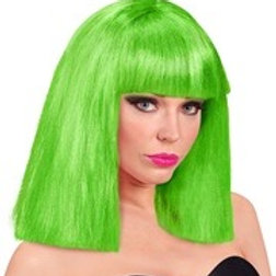 "neon green ""SHOWGIRL WIG"" in box. 10275 W"