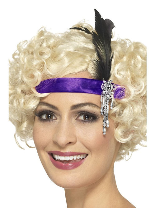 Purple Satin Charleston Headband. 48071 Smiffys
