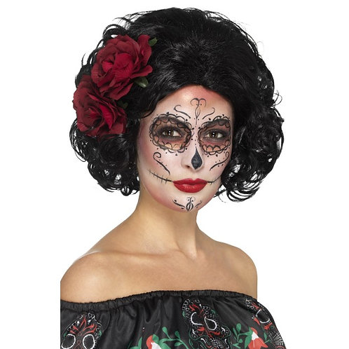 Deluxe Day of the Dead Doll Wig. 48313 S