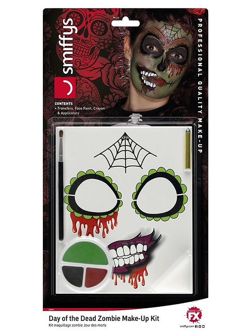 Smiffys Make-Up FX, DOTD Zombie Kit, Grease, Multi. 44915 S