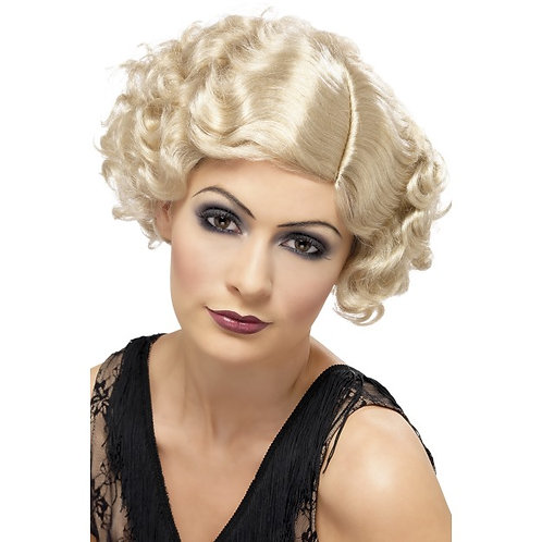 20'S Flirty Flapper Wig,Blonde