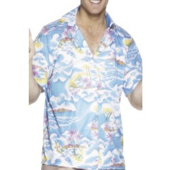 Hawaiian Shirt, Blue 25259 S