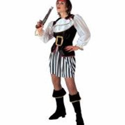 "PIRATE"" (coat with jabot, skirt, belt, bo... 3153U W"