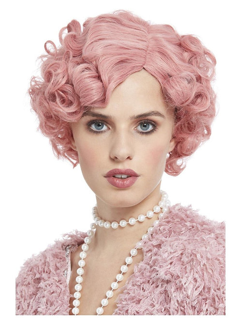 20s Flirty Flapper Wig, Pastel Pink. 72105 Smiffys