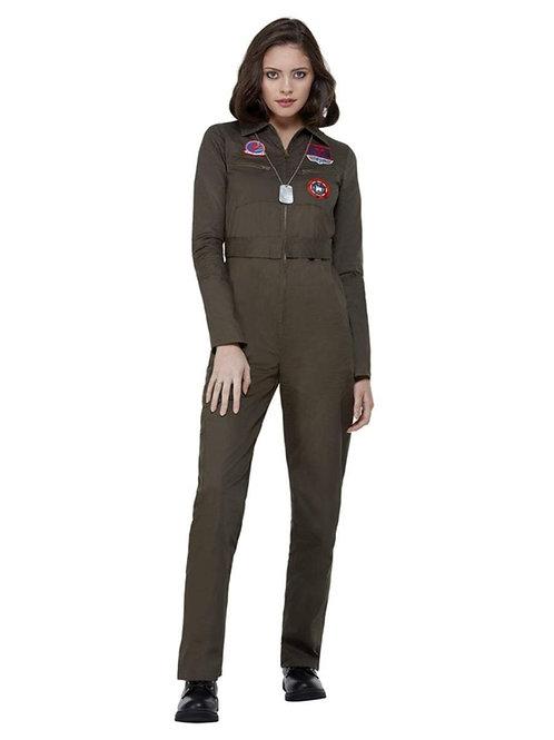 Top Gun Ladies Costume with Jumpsuit. 50935 Smiffys
