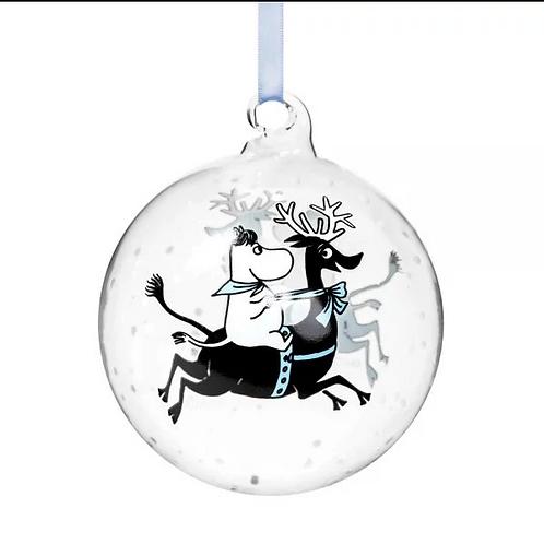 Mummi Julekule Winter Magic Snorkfrøken på reinsdyr Ø9cm