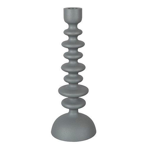 HEXAGON Candle holder grey 11,5/4,5xH31 cm 794-666-05