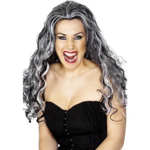 Renaissance Vamp Wig, Grey and Black SKU: 29243