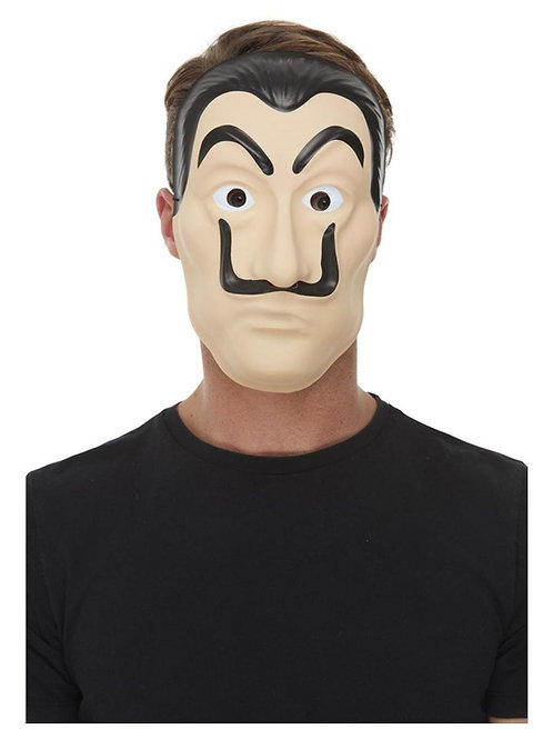 Bank Robber Mask. Full Face PVC with Elastic. 52126 Smiffys