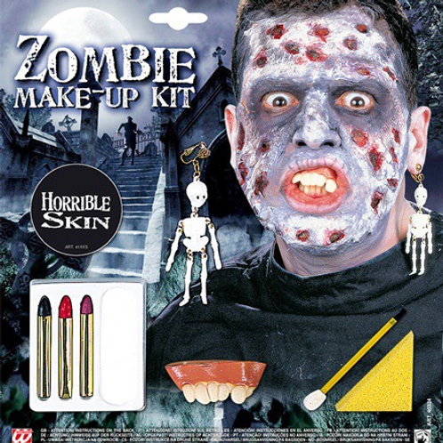 ZOMBIE MAKE-UP SET WITH ACCESSORIES. 40324 Widmann