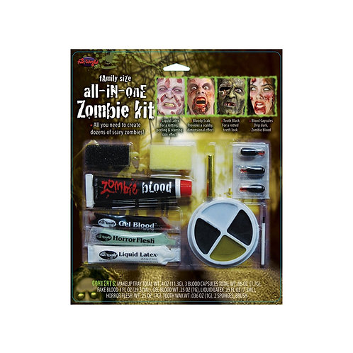All in One Family Zombie Makeup Kit FW-9571 W