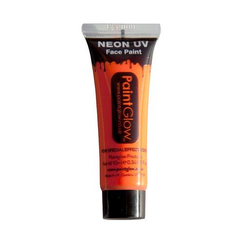 UV Body Paint 10ml - NEON ORANGE PG-AA1A05 W