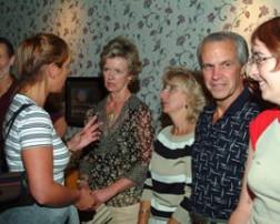 Julie talks to Mary & Jeanne & Gary