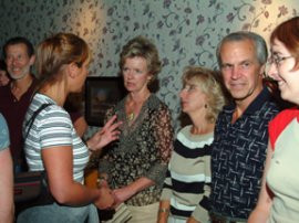 Julie talks to Mary & Jeanne & Gary
