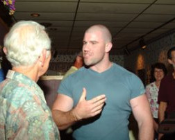 Darius meets his host Paul