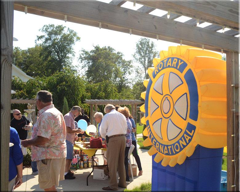 Rotary Wheel Logo at Event