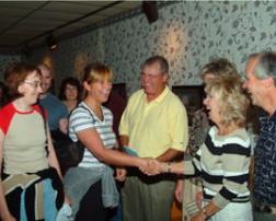 Julie meets her hosts