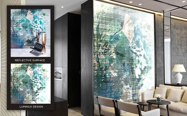 LUMINUX enlivens generic walls with luminous textures.