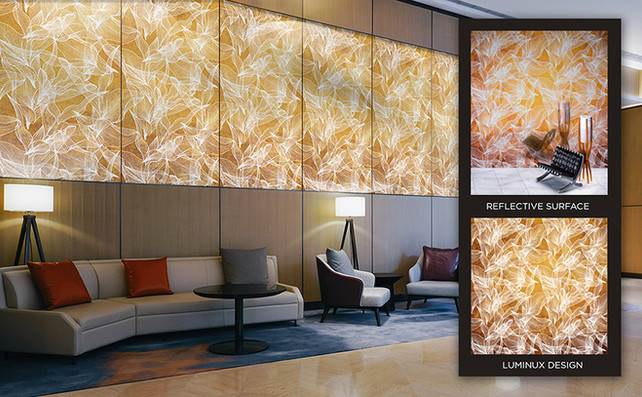LUMINUX adds visual impact to any space.