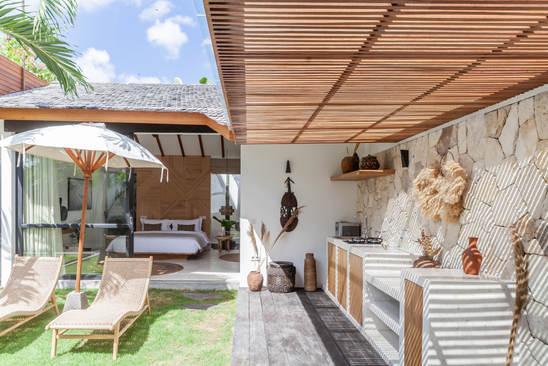 Kitchen and deck