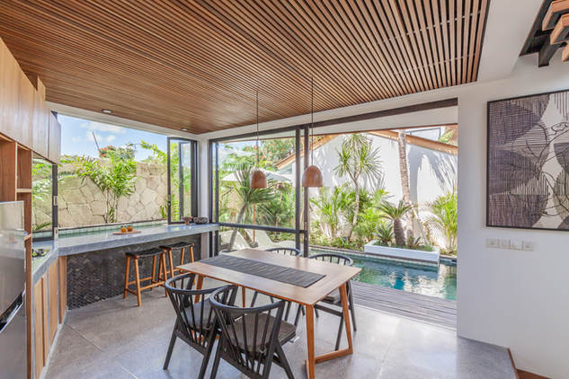 Kitchen and pool