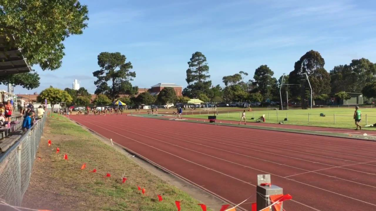 Women's 100m dash invitational (Heat 1) 12/09/19