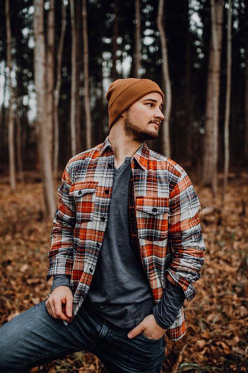Oversize Holzfällerhemd- Jacke