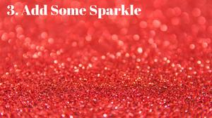 red glitter sparkle