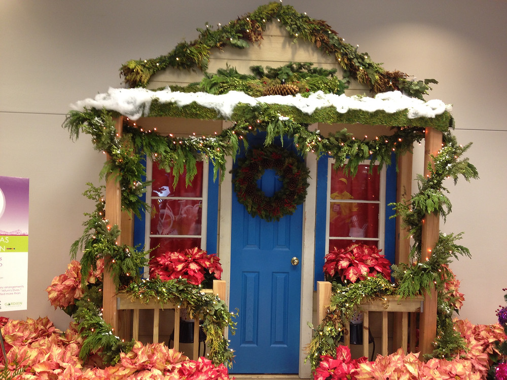 porch garland pillar wrap mixed thick Christmas winter