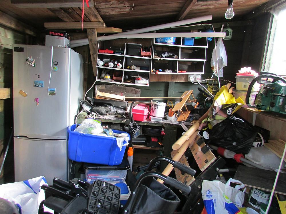 clutter storage basement