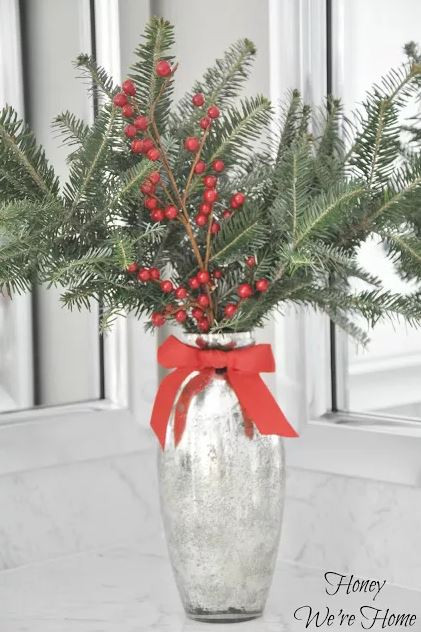 fresh evergreens vase fragrance