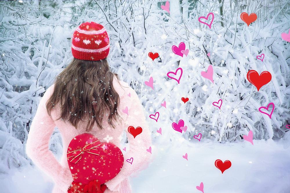 winter hearts snow