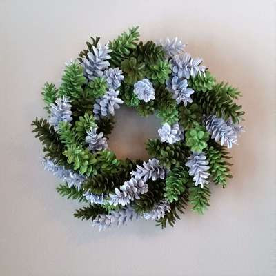 Spring Pine Cone Wreath Tutorial March