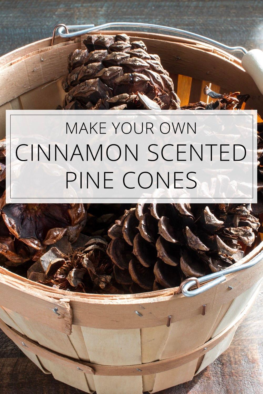Cinnamon Scented Pine Cones DIY